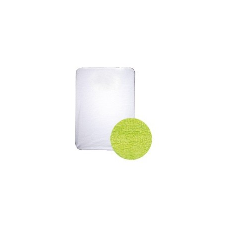 Drap housse éponge : vert fluo